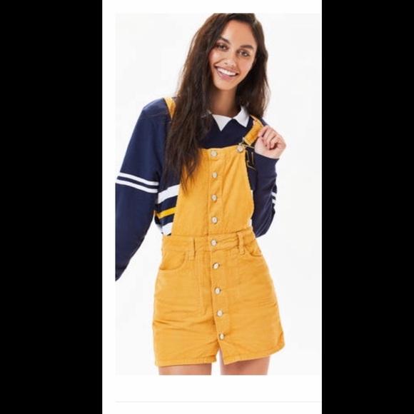e3b9ff37ea PacSun Dresses | Button Front Corduroy Dress Mustard | Poshmark